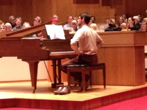 Vienna Choral Society's Greg Graff, shoeless
