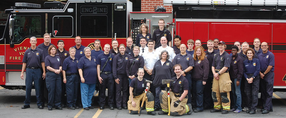 The men and women of the VVFD