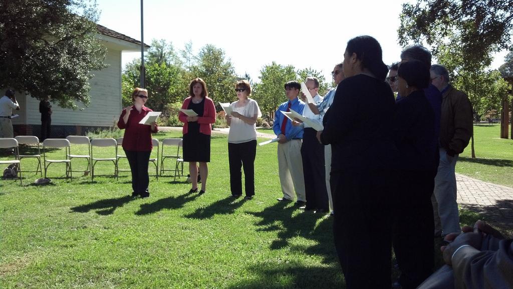 Vienna Choral Society at the 9/11 2012 memorial (image by Mark Keam)