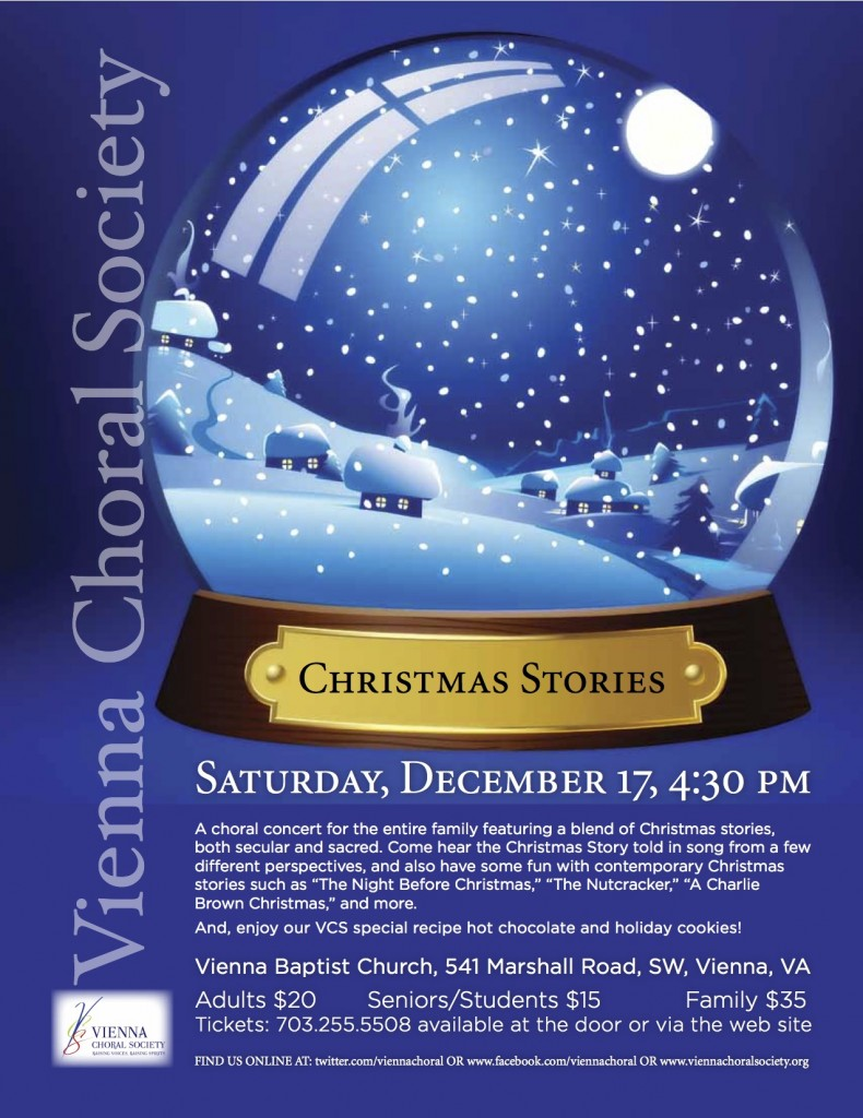 Vienna Choral Society presents Christmas Stories, December 17, 2011