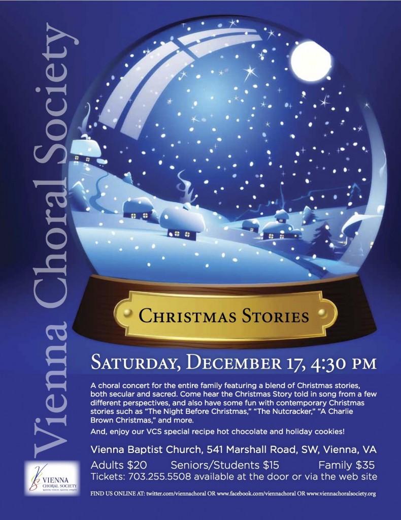 Vienna Choral Society presents Christmas Stories, December 17, 2011