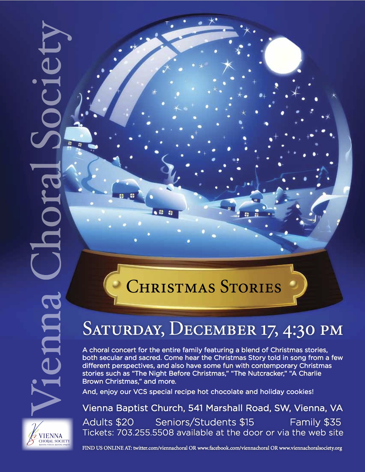 vienna choral society s annual holiday concert christmas stories vienna choral society presents christmas stories 17 2011