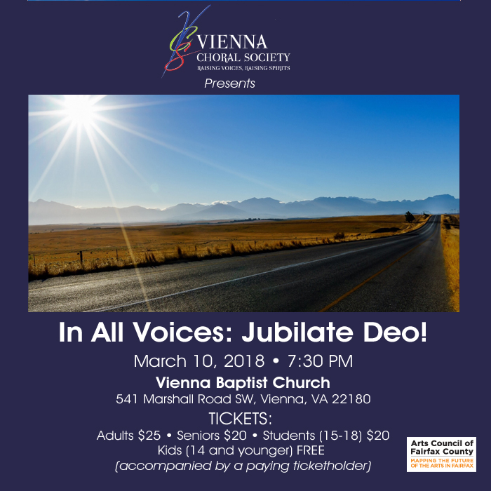 Poster Art for In All Voices - Jubilate Deo