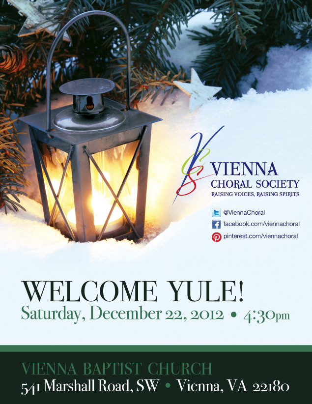 Poster for VCS 2012 holiday concert