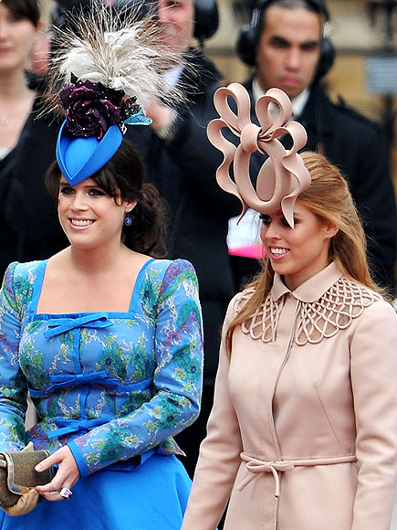 Princesses Beatrice and Eugenie's hats at the royal wedding