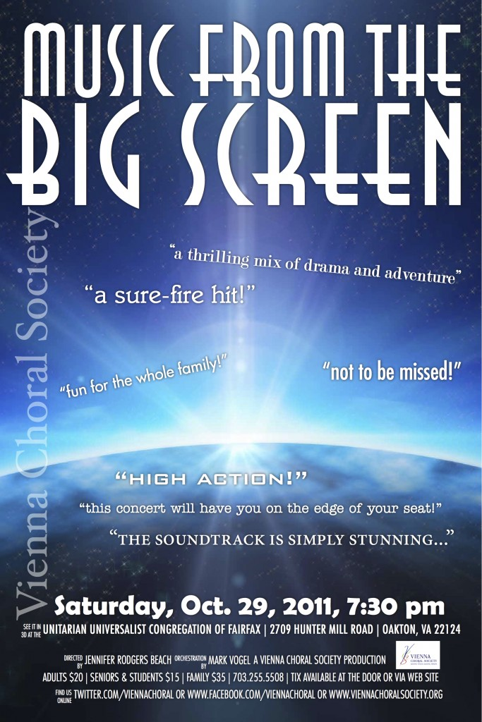 Vienna Choral Society | Music From The Big Screen (October 29, 2011)